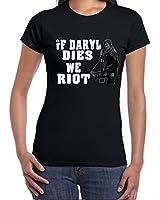 Daryle Dies Riot-Walking Dead tshirt-Womens Funny Sayings Slogans T Shirts