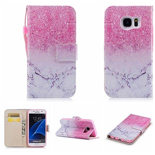 Nancen Compatible with Handyhülle Galaxy S7 / SM-G930 (5,1 Zoll) Hülle, Magnetverschluss Standfunktion Brieftasche und Karten Slot, Taschen & Schalen -