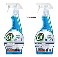 Cif Glass Cleaner 520 ml (Pack of 2 x 520 ml)