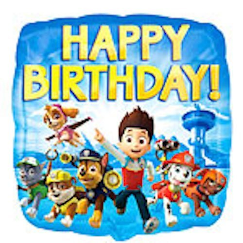 PAW PATROL Folienballon Happy Birthday, 45,7 cm