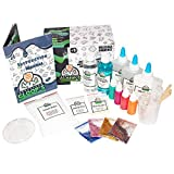 Professor Gloop\'s 5 in 1 Educational Slime Making Kit – DIY Non-Toxic, Borax-Free Includes Ingredients and Instructions on How to Make; Glow in the Dark | Glitter | Foam Ball | Bright | Regular Slime
