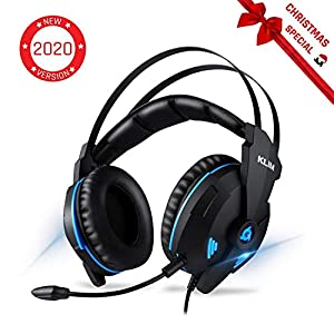 KLIM Impact V2 – Gaming Headset und Mikro (USB) – 7.1 Surround-Sound + Isolation – Hochqualitativer Klang + Klangvolle Bässe – Gaming Headset und Mikro für PC/PS4 Videospiele [ Neue 2020 Version ]