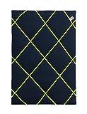 paula & ferdinand Memoboard LEINEN oxford blue, Satinband NEON grün, Format 45x65 cm