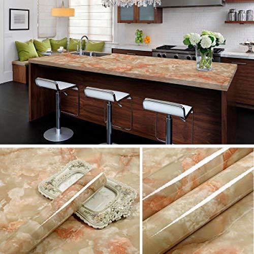 Adesivi per mobili in marmo spesso armadio per porte in pietra adesivi murali autoadesivi carta da parati impermeabile carta da parati 0,6 m * 5 m pietra rossa nuda