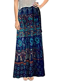 Ethnic Style Cotton Wrap Around Long Skirt