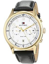 Tommy Hilfiger Reloj Análogo clásico para Hombre de Cuarzo con Correa en Cuero 1791386