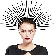 Fantherin Women's Mary Halo Crown Headband Zip Tie Spiked Halo Crown Goddess Headpiece Headdress for Cosplay H