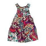 Amlaiworld Neonato Summer dress,Vestito scollato striscia + breve (3-4 anni, Bianco)