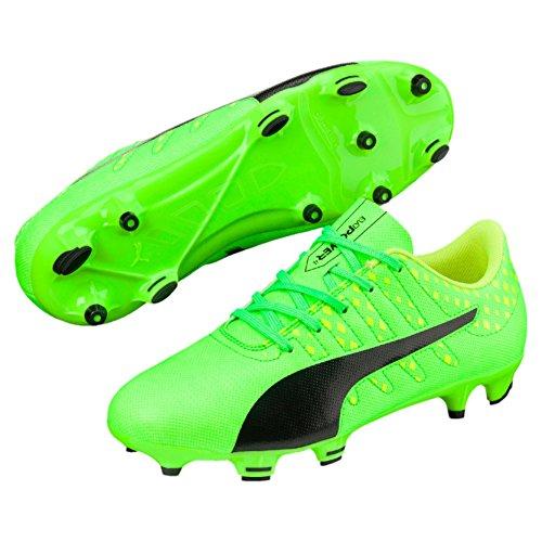 Puma Unisex-Kinder EvoPower Vigor 4 FG Jr Fußballschuhe, Grün (Green Gecko Black-Safety Yellow 01), 38 EU