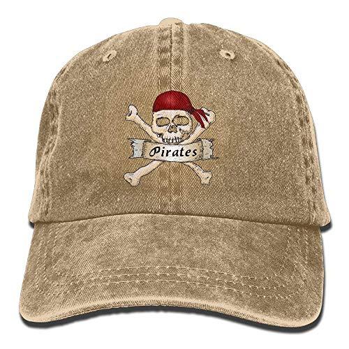 Presock Pirate Skull Crossbones Scarf Classic Baseball Caps Washed Cowboy Hat Unisex