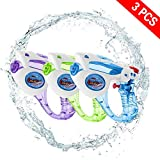 Yojoloin 3 STÜCKE Wasser Blaster Super Wasserpistole Soaker Squirt 200CC Feuchtigkeitskapazität Party und Outdoor-aktivität Wasser Spaß Blaster für Kinder, Wasser Krieg Gelegentliche Farbe (3 Pack)