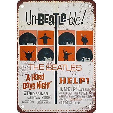 Beatles Aiuto. E una dura giornata di notte stile vintage Riproduzione in metallo Tin Sign 17,8x