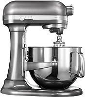 KitchenAid kitchen machine artisan 5KSM7580XEMS finitura argento medaglia 5KSM7580XEMS  Caratteristiche: Dispositivo di sollevamento del recipiente con design arrotondato Ciotola da 6,9 L in acciaio inonssidabile Maniglia per una presa facile anche ...