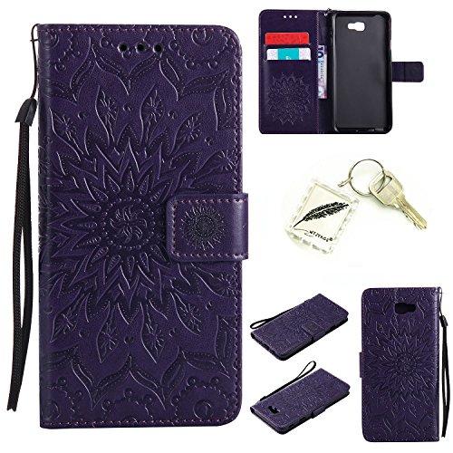 Preisvergleich Produktbild Silikonsoftshell PU Hülle für Samsung Galaxy J7 Prime / G610 / ON7 Tasche Schutz Hülle Case Cover Etui Strass Schutz schutzhülle Bumper Schale Silicone case+Exquisite key chain X1) #KC (1)