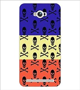 PrintDhaba Skull D-5757 Back Case Cover for ASUS ZENFONE MAX ZC550KL (Multi-Coloured)