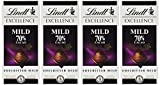 Lindt & Sprüngli Excellence Mild 70%, 4er Pack (4 x 100 g)