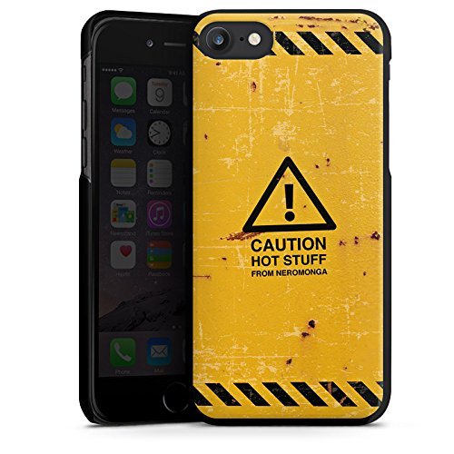 Apple iPhone X Silikon Hülle Case Schutzhülle Warnung Danger Orange Hard Case schwarz