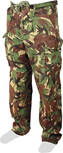 Vera British Army effetto Camouflage Camo pantaloni da Combat (di 1 usato) - Army Surplus Camouflage
