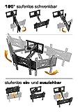 RICOO Wandhalterung TV Schwenkbar Neigbar R23...Vergleich