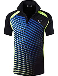 jeansian Hombres Verano Deportes Wicking Transpirable Quick Dry Short Sleeve Polo T-Shirts Tops Running Training Tee LSL195