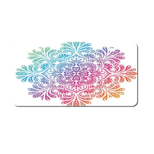 DKISEE Bohemian Floral Mandala Metal Front License Plate Tag Auto Car Tag Vehicle Tag 4 12x6 inches