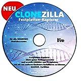 CLONEZILLA Festplatten-Kopierer , klont ganze Rechnersysteme und erstellt Abbilder von Festplatten, um sie auf anderen Rechnern installieren zu können