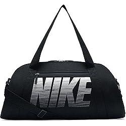 Nike W NK Gym Club Bolsa de Deporte, Mujer, Negro/Blanco, Talla Única