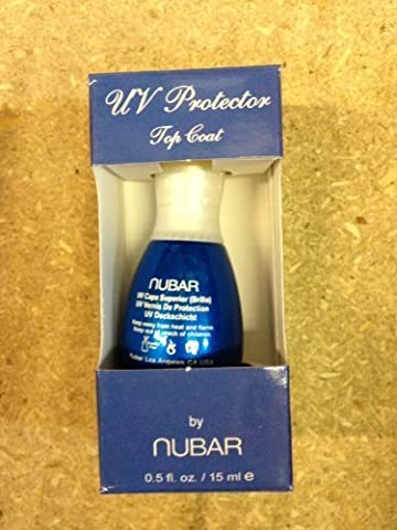 Nubar UV Protector Non Yellowing Top Coat High Gloss Protects Against UV Rays/ Sunlight and Tanning Beds