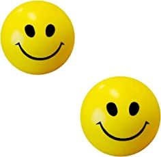 Abee Stress Reliver Smiley Ball(Multicolour,BALL03)- Pack Of 2