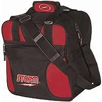 Storm solo Single Tote 1Ball–Bolsa de bolos para 1Bolos Bola y 1par–Zapatos de bolos en diferentes colores, blanco/rojo