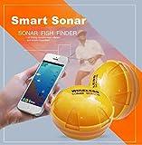 YUYOUG Wireless Sonar Fish Finder Sensor Meer See Fisch erkennen für Smartphone für Shore Angeln und Schwimmen Mapping, kostenlose App auf ios Oder Android