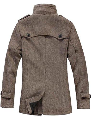 Vogstyle Herren Mantel Jacke Klassischer Herrenmode Wollmäntel WärmeJacke Coat Art 4 Khaki