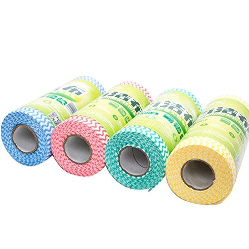 encoco Einweg Reinigung Handtücher, Geschirrtücher und Spültücher wiederverwendbar Handtücher, Geschirrtücher und Spültücher wiederverwendbar Handtücher 4 Pc/4 Color (Boden Lamm)
