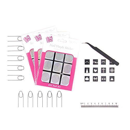 Stencil per nail art Fairy in silicone mat/tappetino arrotolabile per manicure, nail art unghie stencil/Decal pinzette strumento