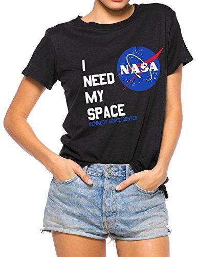YUHX Cuello Redondo de Manga Corta para Mujer I Need My Space...