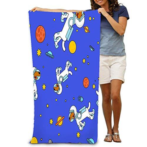 Großes Badetuch, weiches 130X80Cm Handtuch Hund Astronaut Space Pattern Haustier Spaceman Welpen Kostüm Universum Textire Dog Astronaut Space Pattern - Space Dog Kostüm