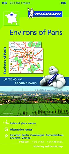 Environs of Paris Michelin Zoom Map 106 (Michelin Zoom Maps)