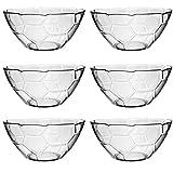 12 tlg. Glasschale Dessertschale Snackschale im Fußball look aus Glas Schale Süßigkeiten Schüssel 17cm