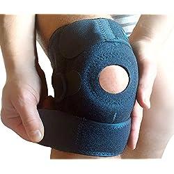 WITKEEN Kniebandage - Schont das Knie bei Arthritis, Tendonitis, bei Verstauchungen oder beim Sport - Schützt vor weiterer Schädigung des Knies - Ohne Hautirritation - Bequem auch bei täglichem Gebrauch.