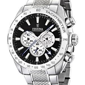 Festina F16488/9 - Reloj cronógrafo de cuarzo para hombre con correa de acero inoxidable, color plateado de Festina