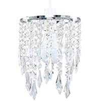 MiniSun - Elegant Chandelier Design Ceiling Pendant Light Shade With Beautiful Clear Acrylic Jewel Effect Droplets
