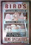 Mstiyce Bird's Baking Powder Custard Specialies Rétro Art Exquis Signe De Tôle Traditionnel 12x8 Pouce Publicité Frappant Mur Décoration Cadeau