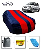 #10: Fabtec Car Body Cover for Hyundai Santro Xing with Storage Bag + Air Freshener + Microfiber Glove Combo! (Red & Blue)