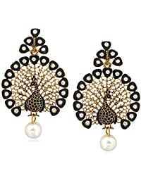 Meenaz Fashion Jewellery Pearl Earrings For Women Ear Rings For Girls Meenakari Gold Plated Antique Fancy Party...