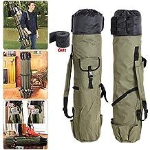 G.G.G. cañas de pescar mochila Equipos de pesca Bolsa, Carrete organizador de bolsas de viaje, lona del espesamiento Capacidad impermeable grande, longitud de 1.2 m Como regalo ( banda Mano - específicamente para cañas de pescar)