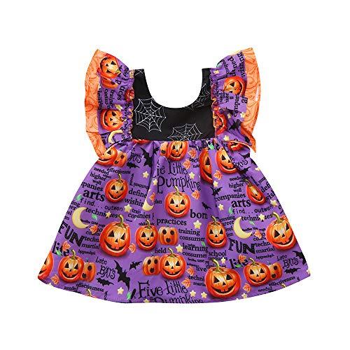 MIRRAY Mädchen Kleinkind Infant Baby Mädchen Cartoon Kürbis Print Kleid Halloween Kostüm Outfits