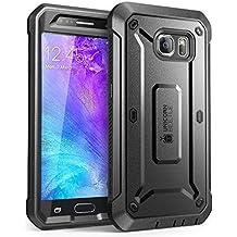 Cover Galaxy S6, Unicorn Beetle PRO Serie Custodia SUPCASE copre tutto il corpo, e robusta con protezione integrale dello schermo per Samsung Galaxy S6 (Nero/Nero)