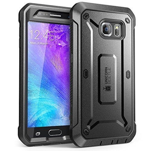 Galaxy S6 Hülle, [Ultra Slim Fit] PC Transparent Klar Cover Case Hülle für Samsung Galaxy S6 S VI, Samsung Galaxy S6, schwarz/schwarz - Wasserdichte Komfort Kern