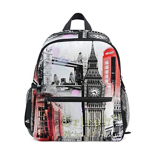 Eslifey European Architecture London Unisex-Daypacks-Taschen Schulrucksack für Kinder Jungen Mädchen - London Cross Body