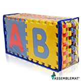Morbido puzzle di alfabeto tappeti gioco - Incastro Schiuma Mat Giovani - Attività Playmats Puzzle - Piano di protezione - schiuma EVA gomma Alphabet Mat - A - Z = 26 Mats in totale
